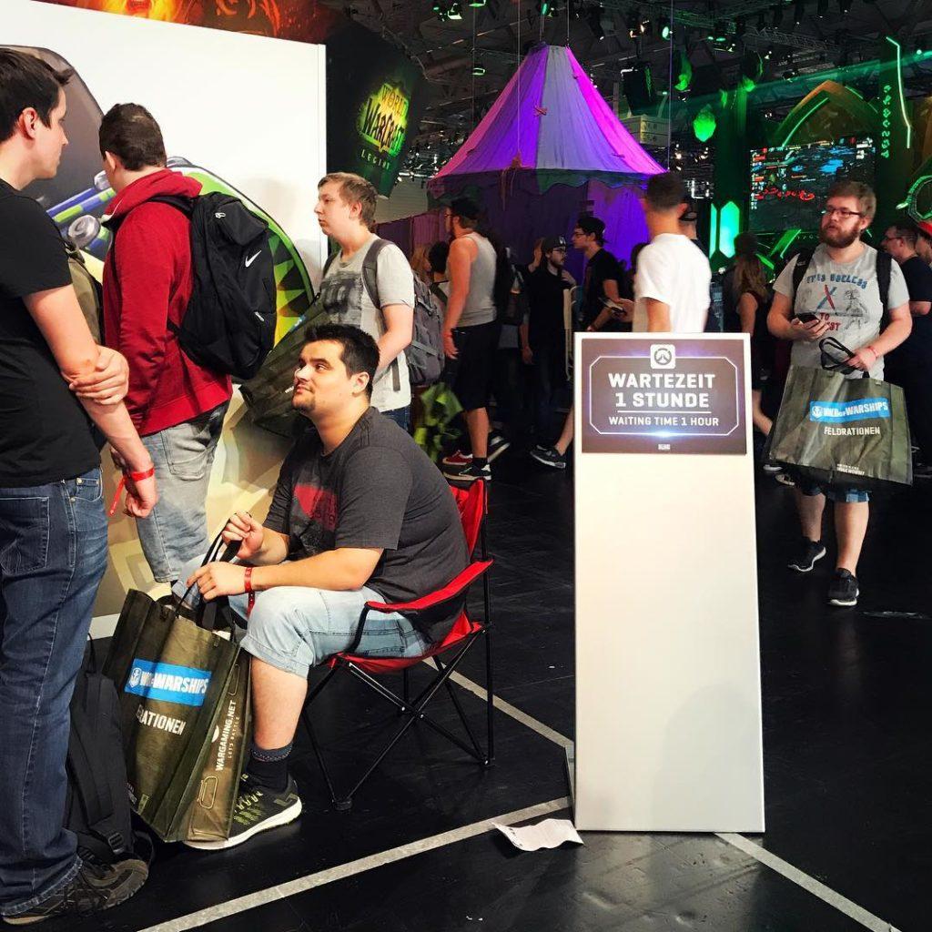 Nicht unblich auf der Gamescom in Kln  Manchmal stehenhellip