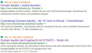 cashback google search