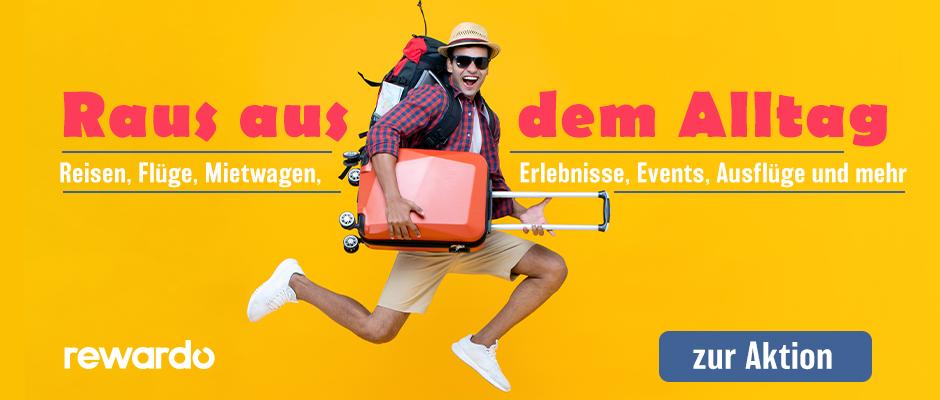 Reisen, Flüge, Mietwagen, Erlebnisse, Events, Ausflüge und mehr